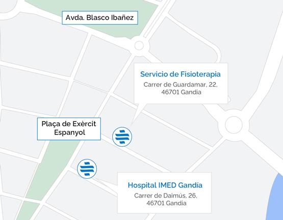 Plano del Hospital IMED Gandía