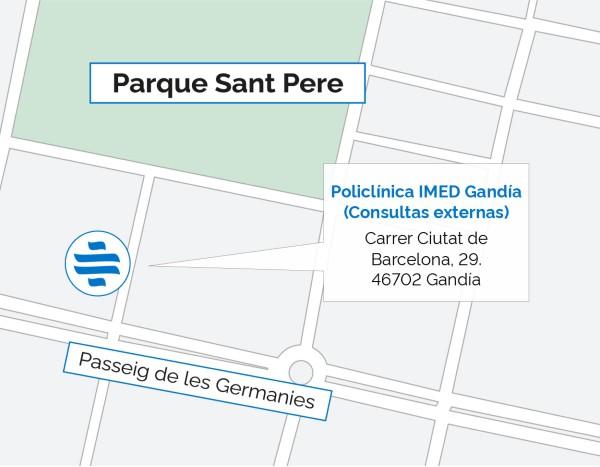 Plano de la Policlínica IMED Gandía